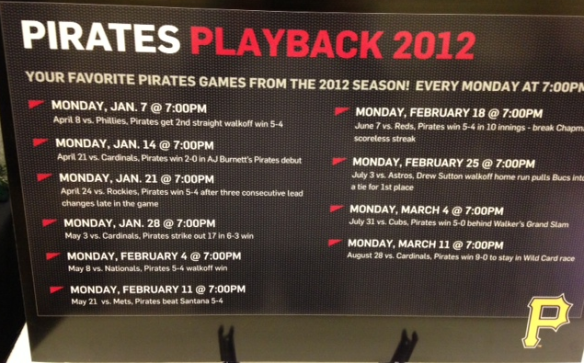 PirateFest Pirates Playback Monday Night Classics